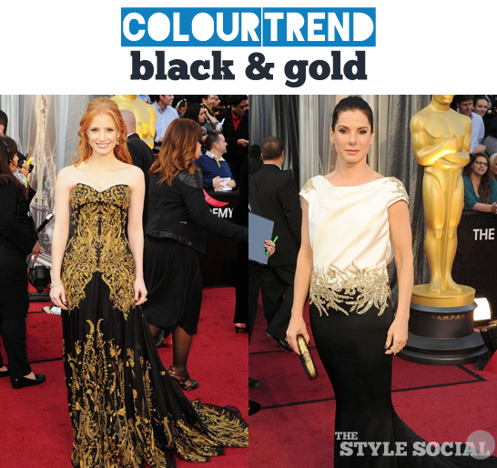 Oscars 2012 Black & gold