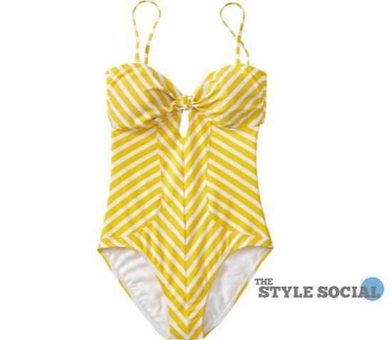 old navy stripe swimsuit